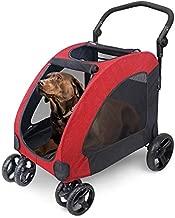 WOOCE Dog Stroller for Medium Large Dog, 4 Wheels Foldable Pet Travel Stroller Jogger with Adjustable Handle Load Capacity 133 lb