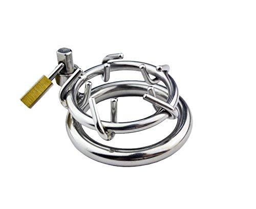 Ĵaūlās de Ċastìdad Ĵaūlās de Ṕēnē Acero Inoxidable 3Rings Hollow Stealth Dispositivo De Diferentes Tamaños Anillo De Diámetro Grande - 40 Mm, 45 Mm, Anillo De Presión De 50 Mm Opc(Size:45mm snap ring)