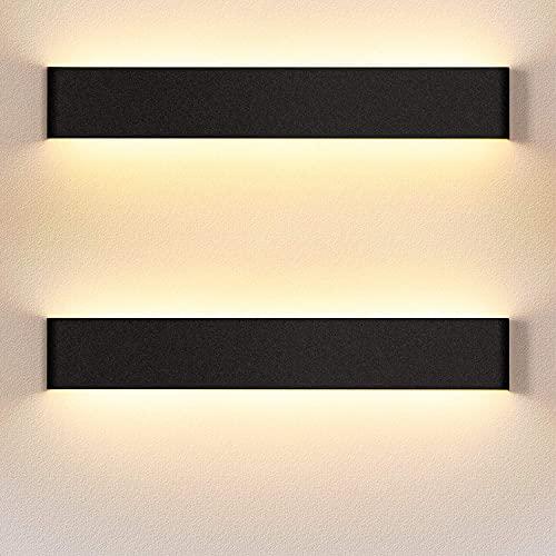 LEDMO Applique Murale Interieur LED 55CM 2 Pack Lampe Murale 3000K Blanc Chaud Moderne Up Down Appliques Murales 18W Luminaire Mural pour Chambre Salon Escalier Couloir