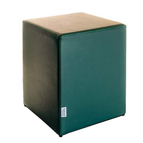 Kaikoon Pouf Cube Vert foncé Dimensions : 35 cm X 35 cm x 42 cm