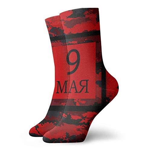 Business Socken,Anzug-Socken,Sport/Sneaker Socken,High Performance Tennissocken,Russischer Feiertag Am 9. Mai Gedruckte Feuchtigkeitskontrolle Laufsocken Langlebige Atmungsaktive Trainingssocken