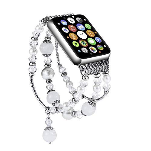 SEANADO Cinturino per Apple Watch 38mm/40mm Perle per Series 4/3/2/1 Cinturino da Donna