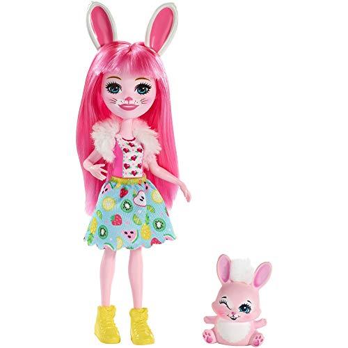 Enchantimals FXM73 - Hasenmädchen Bree Bunny Puppy mit Tierfreund Twist, 15,2 cm, mehrfarbig