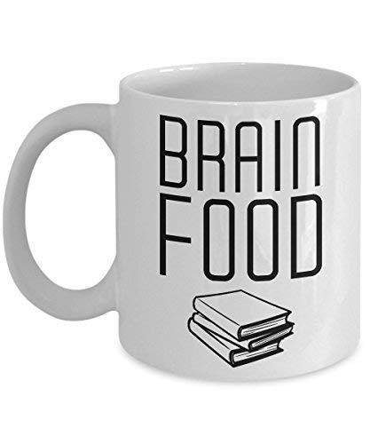 Cukudy boek Nerd mok hersenen voedsel lezen geschenk mok voor lezer en geeks