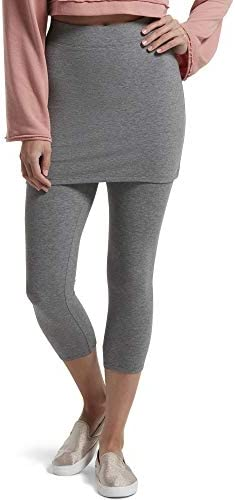 HUE Women s Ultra Soft Cotton Skapri Legging Charcoal Heather Large product image