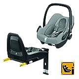 Bébé Confort Pack Siège auto Cosi Rock i-Size (45-75cm) + base FamilyFix i-Size ISOFIX ultra sécuritaire, Nomad Grey