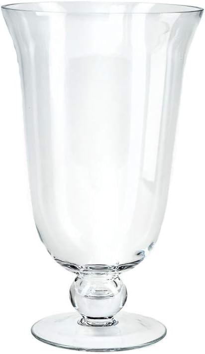 Serene Spaces Living Wazon Glass Decorative B Philadelphia Mall Urn Pedestal Vase Cheap mail order shopping