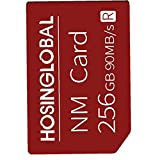 Phone Memory Card 256G NM Micro SD Card Mobile Phone Memory Expansion Card Compatible with Huawei Smart Phone Red