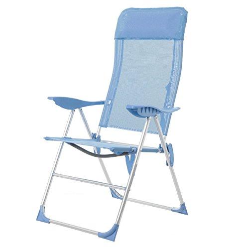 Sillón para camping plegable pop de aluminio azul Garden - Lola Derek