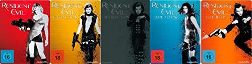 Resident Evil - Steelbook Collection - Extinction - Afterlife - Retribution - Apocalypse 5 Blu-Ray Futurepak - Limited Edition