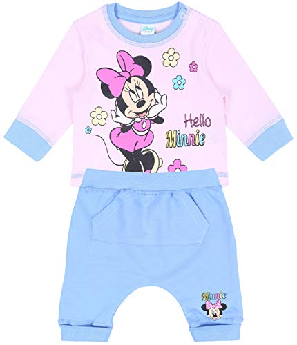 Set bébé Bleu et Rose Minnie Disney 12 Mois