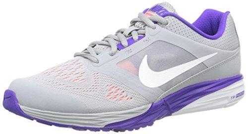 Nike Tri Fusion Run Damen Laufschuhe, Grau (Grau/Violett), 36 1/2 EU