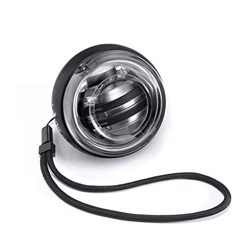 IDWF LED-Handgelenk-Kugel-Gymnastik-Eignung Ausrüstung Super Gyroskop Powerselbstanlauf Gyro Arm Force Trainer Muscle Relax (Color : Black)