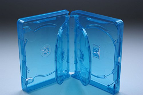 Amaray Blu Ray Hülle 25 mm für 6 Bluray,DVD,CD Disc *3 Leerhüllen* Neuware