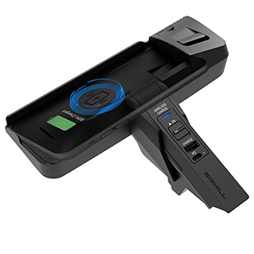 SIGHILL Cargador de coche inalámbrico compatible con accesorios BMW para (2013-2015) Serie 3/4 Todos los modelos.(2014-2020) M3/M4.Qi 15W MAX,2-Port tipo C con 18W PD y 12W QC3.0(Dock M4)