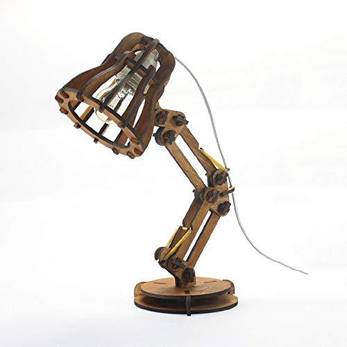 WPCBAA bureaulamp van hout Pixar studiolamp klassieke retro persoonlijkheid creatieve zelfmontage lampen DIY lampvoet E27