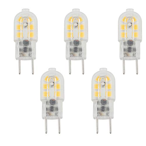 Bonlux 3W G6.35 LED Lampe Birne AC/DC 12V Warmweiß 3000K Bi pin JC Typ GY6.35 Glühbirne für Schreibtischlampe, Accent, Display, Landschaftsbeleuchtung (5-Stück)