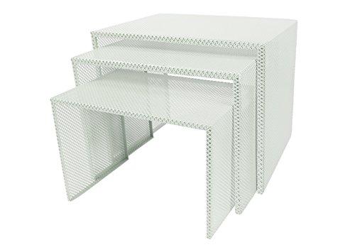 Tosel Zarina Tables Gigogne, Acier, Vert, 48 x 40 x 40 cm