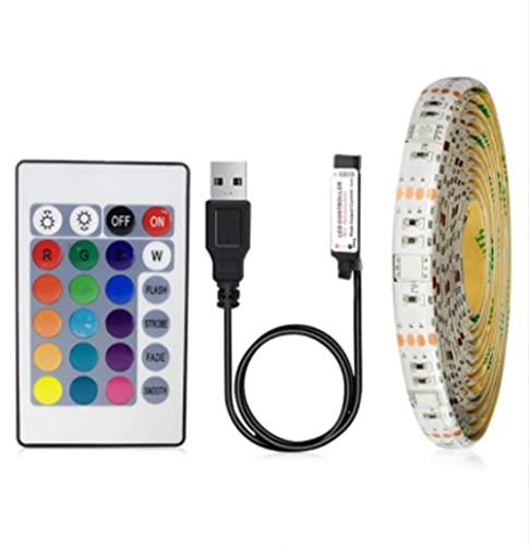 SMD2835 - Tira luminosa LED RGB Topmall1, regulable, USB, IP20, IP65, 5 V, impermeable, cinta LED blanca / cálida (1 m para mando a distancia de rodado)