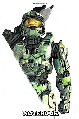 Notebook: Master Chief Design Just For Gamers , Journal for Writing, College Ruled Size 6