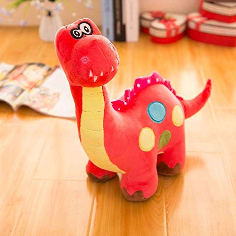 Plush Dinosaur Toy Stuffed Animal Pillows Cuddly Animal Dolls Sleeping Comfort Cushion Kawaii Presents (color   Red, Size   65CM)