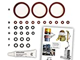 Dichtungen/Wartungsset (XL) für DeLonghi ESAM Thermoblock & Brüheinheit | O-Ringe | TOP Qualität...