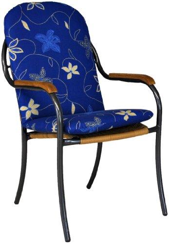 Angerer Landhaus Sesselpolster Korfu, Blau, 47 x 98 cm