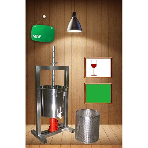 YS Fruchtpresse - Handdruckgerät - Poliertes Aluminium Und Edelstahl Presse Für Wein Und Apfelwein, Die Gesunde Umwelt Einfach Zu Bedienen