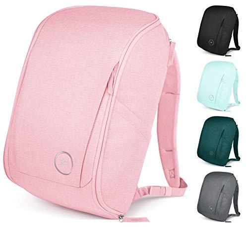 Simple Modern 25L Wanderer Rucksack mit Laptopfach für Kinder Damen Herren - Wickeltasche Laptoptasche Sporttasche Schulrucksack Schultasche für Arbeit, Schule oder Reisen - -Rosé