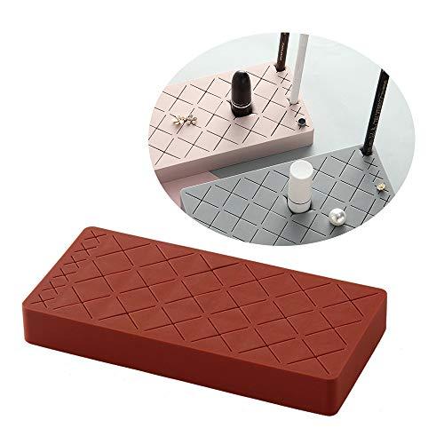 Lippenstift-Halter, 24 Fächer, Silikon, Lippenstift-Display-Ständer, Kosmetik-Aufbewahrungsbox, mehrfarbiger Augenbrauenstift und Make-up-Pinsel-Organizer