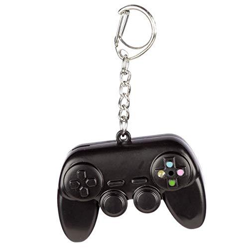 Puckator Game Over Schlüsselanhänger Controller mit Sound & Licht schwarz, Bedruckt, 100% Kunststoff/Metall.