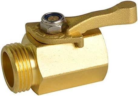 HYDRO MASTER Heavy Duty 3 4 Brass Shut Off Valve with Large Handle Full Flow Garden Hose Connector product image