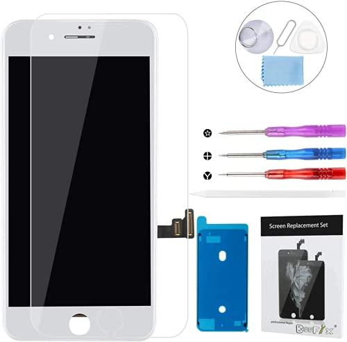 BeeFix for iPhone 7 フロントパネル 液晶パネル 画面修理交換 - ディスプレイ デジタイザ 3Dタッチパネル LCD-白