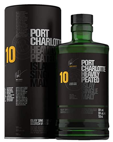 Port Charlotte von Bunnahabhain - Heavily Peated - 10 Jahre - Islay Single Malt Scotch Whisky - 0,7l. in Geschenk-Dose