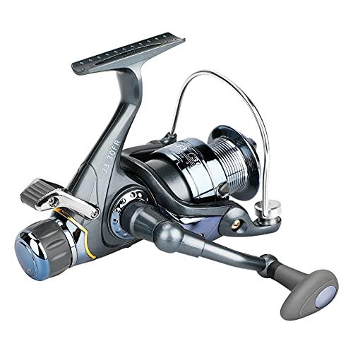 Carrete de Pesca Giratorio de Carpa, Upkey Carrete Giratorio MAX Drag 5 kg / 11LB, 5BB 5.1.1 Relación de Engranajes, Funcionamiento Suave para Agua Salada o Agua Dulce