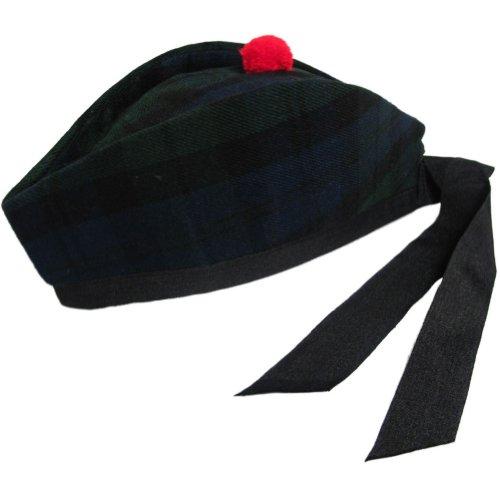 Tango Tartanista - Herren Glengarry-Mütze - ideal für Kilts - mit schottischem oder irischem Tartanmuster - Black Watch - 56cm