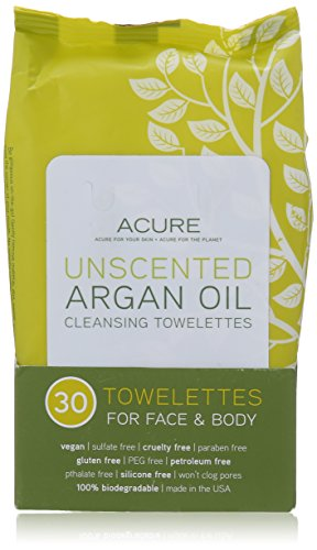 Acure Argan Oil Cleansing Towelettes - Unscented - 30 ct by Acure