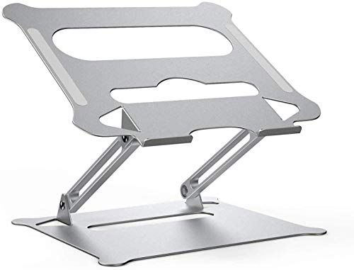 Laptop Stand Adjustable Laptop Riser Macbook Stand Holder Portable Computer Stand LapDesk Compatible for MacBook,HP, Lenovo,Surface,Dell, ASUS, Notebooks up to 17 Inch - Silver