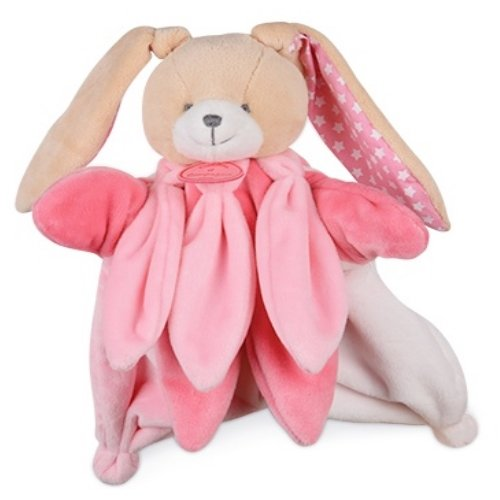 Doudou et Compagnie Marionnette Collector 25cms Lapin Rose Pois