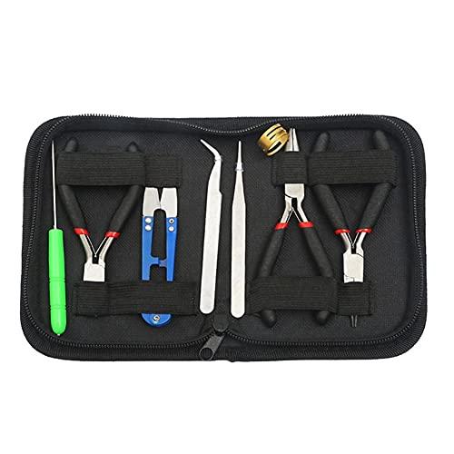 Festnight Kit portátil de suministros para hacer joyas Alicates profesionales para joyería Juego de herramientas para hacer y reparar abalorios con bolsa de transporte
