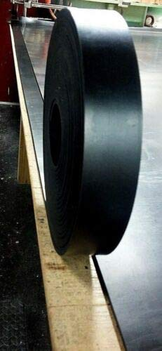 """1 Pc of Sheet Rubber Solid Strip 1/8"""" Thk x 1-1/2"""" W x 30-Foot Roll 60D"""