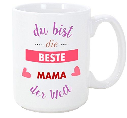 Mama Tasse/Becher/Mug - Du bist die Beste Mama der Welt - Schöne und lustige Kaffeetasse als Geschenkidee für Mütter/zum Muttertag/zum Geburtstag