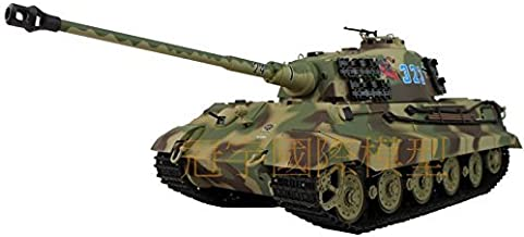 1/16 Scale Radio Remote Control German King Tiger Henschel Turret Air Soft RC Battle Tank Smoke & Sound