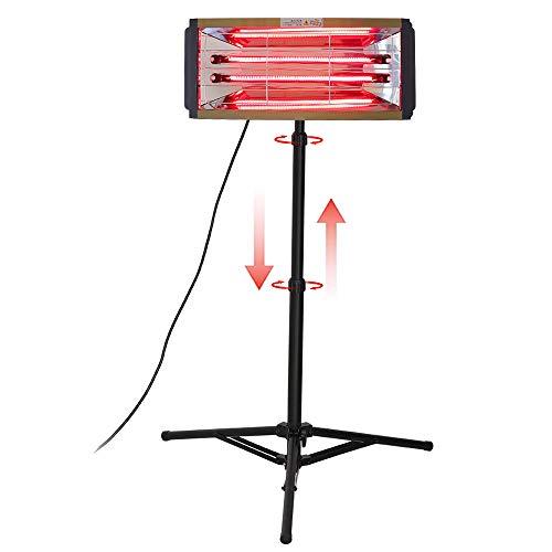 2000W Infrarossi Vernice per la riparazione del corpo auto vernice essiccatore a raggi infrarossi riscaldamento riscaldatore a onde corte lampada di essiccazione a raggi con supporto (220V EU)