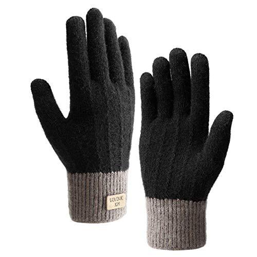 Homealexa Winterhandschuhe Touchscreen Handschuhe Strick Fingerhandschuhe Sport Warm und Winddicht Winterhandschuhe für Skifahren Radfahren und SMS, Geeinget für Damen und Herren
