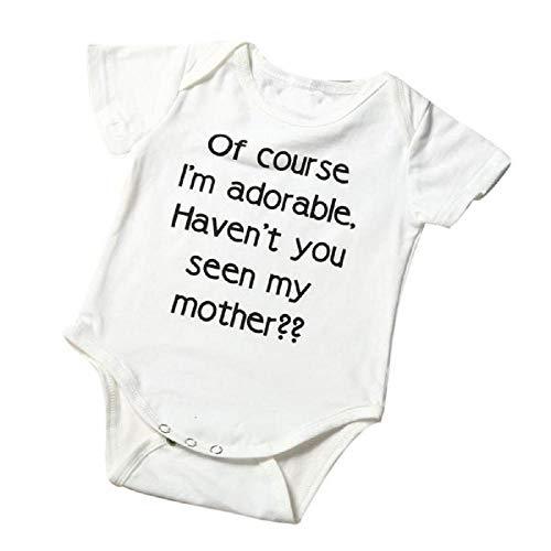 Recién Nacido Infantil bebé niño niña Carta Mameluco Mono Trajes Ropa de bebé por Venmo