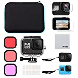 AFAITH Kit de Accesorios Set para GoPro Hero 8 Black, Estuche de Transporte...