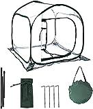 Hydrogarden Mini Serra Pop-up Grow House, Copertura per Serra da Cortile in PVC per Interni, Copertura per Piante da Giardinaggio Portatile Piccola, Riparo per Fiori da Giardino - 80 x 80 x 80 cm