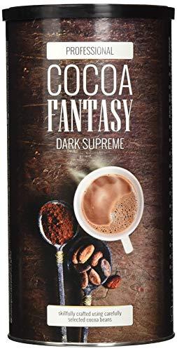 Cocoa Fantasy Dark Supreme Kakao, 1kg Trinkschokolade, Instant Kakaopulver, intensiver und reichhaltiger Geschmack, 40{afc6bf3b1d639fdbba4f78bceb62bee7457da45687b127bd483f523d84830513} Kakaoanteil