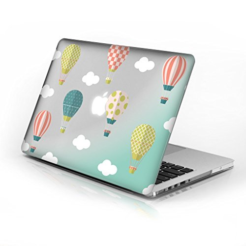 Price comparison product image Rubberized Hard Case for 13 Inch MacBook Pro with Retina Display Model Number A1502 and A1425,  Hot Air Ballons Design with Clear Bottom case,  Come with Keyboard Cover